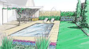 Professioneller Gartenplan